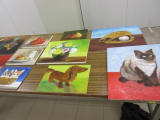 口と足で描いた絵の春の特別絵画展(@市ヶ谷)への画像(2枚目)