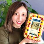 .マホンのインスタ風ケーキ届いたよー🐶💕.可愛すぎる✨もちろん人間用のケーキだからマホン食べれないけど…可愛すぎてずっと眺めてられる🎶.#フォトジェアニバーサリー …のInstagram画像