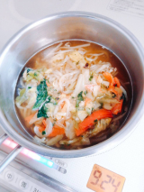 お水がいらない1/2日分の国産野菜が摂れるタンメン 菜宝&玉露園お徳用梅こんぶ茶の画像(7枚目)