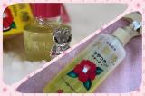 「キティちゃんコラボの椿油とヘアウォーターがいい感じで好き♥」の画像(1枚目)