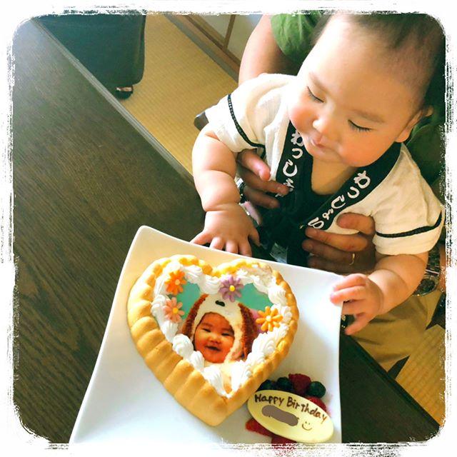 口コミ投稿:一歳のお誕生日会はcake.jpさま ( @iiicakejp )の写真付きファーストバースデーケ…