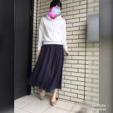 「GUパーカー×リネンフレアスカートにローヒールパンプスでコーデ☆」の画像(1枚目)