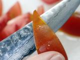 「翁流ダマスカスシリーズのペティナイフを使ってみた結果。」の画像(4枚目)