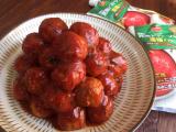 完熟トマトソースで簡単♪ご飯がススム ミートボールの画像(4枚目)