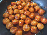 完熟トマトソースで簡単♪ご飯がススム ミートボールの画像(3枚目)