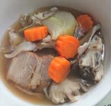 手作りベーコンと野菜のスープ