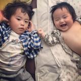 寝起きの兄弟の画像(2枚目)