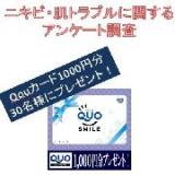 「【1000円分Quoカード進呈】口周りニキビで悩んでいる女性に対するアンケート」の画像(1枚目)