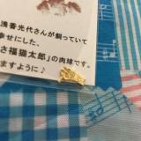 「あさくさ福猫太郎★開運 純金メッキ 豆お守り★」の画像(3枚目)