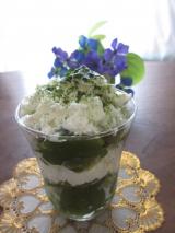 濃いグリンティーde抹茶パフェの画像(3枚目)