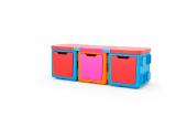 ☆ つなげて重ねておもちゃ箱・テーブルに!chillafishブロックBOX ☆の画像(4枚目)