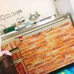 タイルシールでDIY😚💕お菓子作りも大好きです✌️💓😭 #ヴァンベールクラブでくらしをたのしむ #monipla #大香ヴァンベールクラブファンサイト参加中のInstagram画像