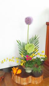 玄関のお花♪の画像(1枚目)
