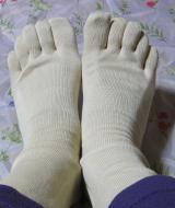 「シルクを綿で守る5本指靴下」を履いてみました。の画像(5枚目)