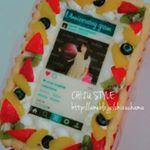 Cake.jpで、インスタ風フレームの写真ケーキをオーダー🍰ㅤㅤㅤㅤㅤㅤㅤㅤㅤㅤㅤㅤㅤ冷凍ケーキ、進化したよね✨ㅤㅤㅤㅤㅤㅤㅤㅤㅤㅤㅤㅤㅤㅤㅤㅤㅤㅤㅤㅤㅤㅤㅤㅤㅤㅤ写真は自由に選べ…のInstagram画像