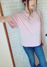 「夢展望 胸ポケットゆるてろVネックTシャツ」の画像(5枚目)