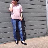 「夢展望 胸ポケットゆるてろVネックTシャツ」の画像(7枚目)