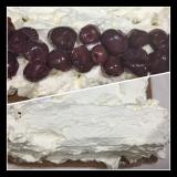 ほろ苦は大人の味~ダークチェリーを包んでノンオイル・ココアロールケーキ・・の画像(5枚目)