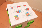 イスやテーブルとしても使える収納ボックス、リトルプリンセスのchillafishブロックBOX&ボックストップ(レビュー)の画像(3枚目)
