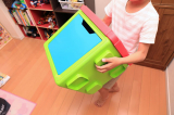 イスやテーブルとしても使える収納ボックス、リトルプリンセスのchillafishブロックBOX&ボックストップ(レビュー)の画像(12枚目)