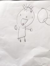 4歳長女っ子&手離し立っち&雑草と戦うの画像(1枚目)