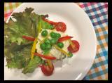 新じゃがで華やかに粒マスタード入りポテトサラダとナポリタンでランチでした~の画像(2枚目)