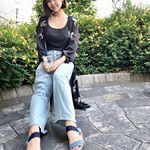 👡💕・こないだ紹介した #coordinate 😚✨・#サンダル は #AcureZ のでインソールのクッションがふかふかでとても歩きやすいんだーーー💗・毎日ベビーカー…のInstagram画像