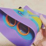 初めての双眼鏡!!子どもでも扱いやすい大きさ、重さ。顔にフィットしやすいです。外に出て鳥探ししたいなぁーなんて。#モニプラ #知育玩具 #ドリームブロッサム #初めての双眼…のInstagram画像