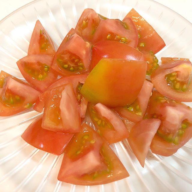 口コミ投稿:トマト〜!お皿で涼しげに見える😊#MYルノーブル #monipla #ブランド洋食器専門店ルノ…