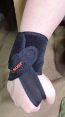AIDERさんの手首サポータータイプ1を使ってみた。の画像(8枚目)