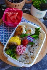 *鶏むね肉の丸め焼き弁当とスタミナ丼の朝ごはん*の画像(3枚目)