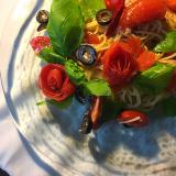 「トマトの薔薇スパゲッティー、冷たいの。」の画像(2枚目)