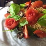 トマトの薔薇スパゲッティー、冷たいの。の画像(4枚目)