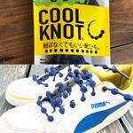 .【結ばない靴ひも】COOLKNOT.コブでキツさを調整できるし、伸縮性があるので靴を履くときも便利!.靴ひもって縦結びになっちゃったりほどけてしまうこともあるけど、…のInstagram画像