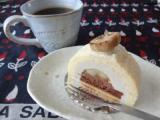 大満足なマクロビケーキ♡「焼きバナナとリュバーブのロール」の画像(1枚目)