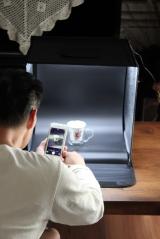 ★★★ フリマアプリのブツ撮りはこれで完璧!LEDライトつき&折りたたみ可能な「撮影ボックス」 ★★★の画像(10枚目)