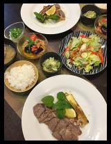 お肉でパワーアップの夕食・・モニター「ターメリック」で火を使わず夏野菜のカレー風味マリネ ♪♪の画像(1枚目)