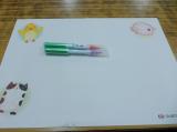 夏休み課外授業☆口と足で描いた絵 ~HEARTありがとう~の画像(8枚目)