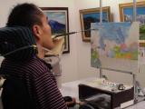 ♪口と足で描く芸術家協会「夏の特別課外授業」♪♪の画像(9枚目)