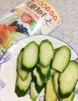 「まんべんなく夏野菜にまぶせて、より使いやすく、おいしく♡海の精 浅漬けのもと」の画像(7枚目)