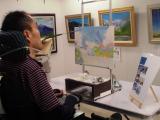 ♪口と足で描く芸術家協会「夏の特別課外授業」♪♪の画像(8枚目)