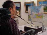 ♪口と足で描く芸術家協会「夏の特別課外授業」♪♪の画像(6枚目)