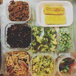 つくおき久しぶりに頑張ったぁー食べ尽くす人がいないとはかどるもんですね*ˊᵕˋ* ・#つくおき #手抜き弁当 #野菜たっぷり#monmarche #tuna #monipla #mon…のInstagram画像