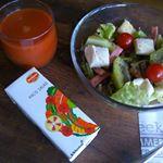 ☆デルモンテHACO SALADハコサラダ1 本(200ml)に350g分の野菜を使用した野菜・果実ミックス飲料🍅最近毎朝飲んでます☺今年は猛暑と災害により野菜の値…のInstagram画像