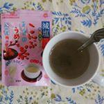 玉露園の減塩梅こんぶ茶✨熱中症予防にモニター当選しました😊アイスでもホットでもOK🙆私はホットでいただいています🎵標準品より塩分30%カットで、旨味エキスが入っているので美味しさも染み…のInstagram画像