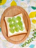 シャインマスカットのオープントースト