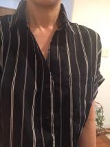 デコルテラインをキレイに♡前後差ジョーゼットスキッパーシャツの画像(7枚目)