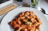 「もっちり里芋のニョッキ トマトチーズソース」の画像(1枚目)
