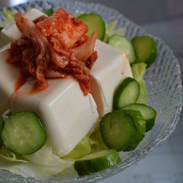口コミ投稿:涼しげなお皿でお豆腐サラダ🥗#MYルノーブル #monipla #lenoble_fan