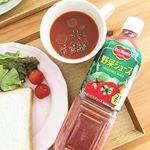 ..デルモンテ 野菜ジュース 900g🍅.独自製法のセロリピューレーと香辛料を使用し、シチリア産岩塩を加えた野菜ジュース❤️使用している野菜は全部で21種類!.今日は寒…のInstagram画像